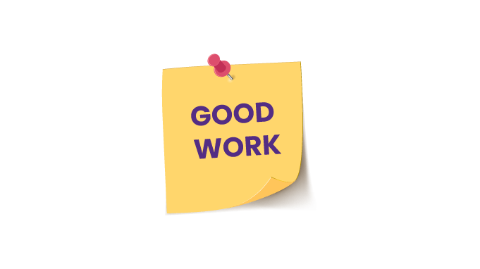 Appreciation notes are also nudge that motivate employees