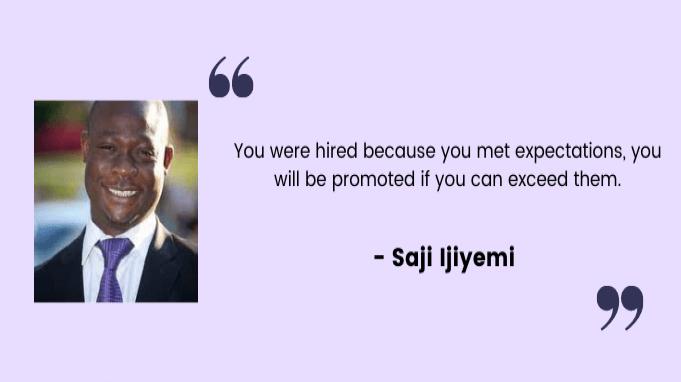 Employee motivation quotes by Saji Ijiyemi