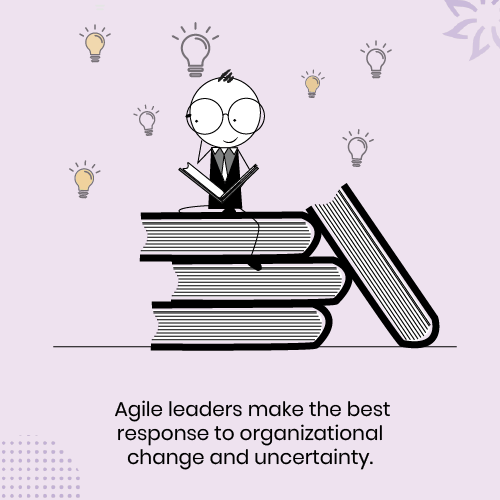 A-agile-leader-sitting-on-a-pile-of-books-and-learning-through-reading