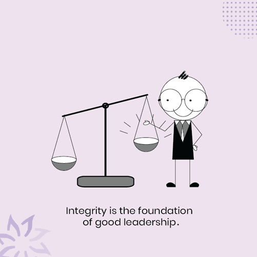 A-leader-with-integrity-standing-along-a-weighing-balance