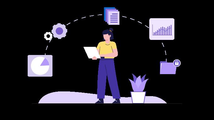An-organizational-leader-organizing-various-tasks
